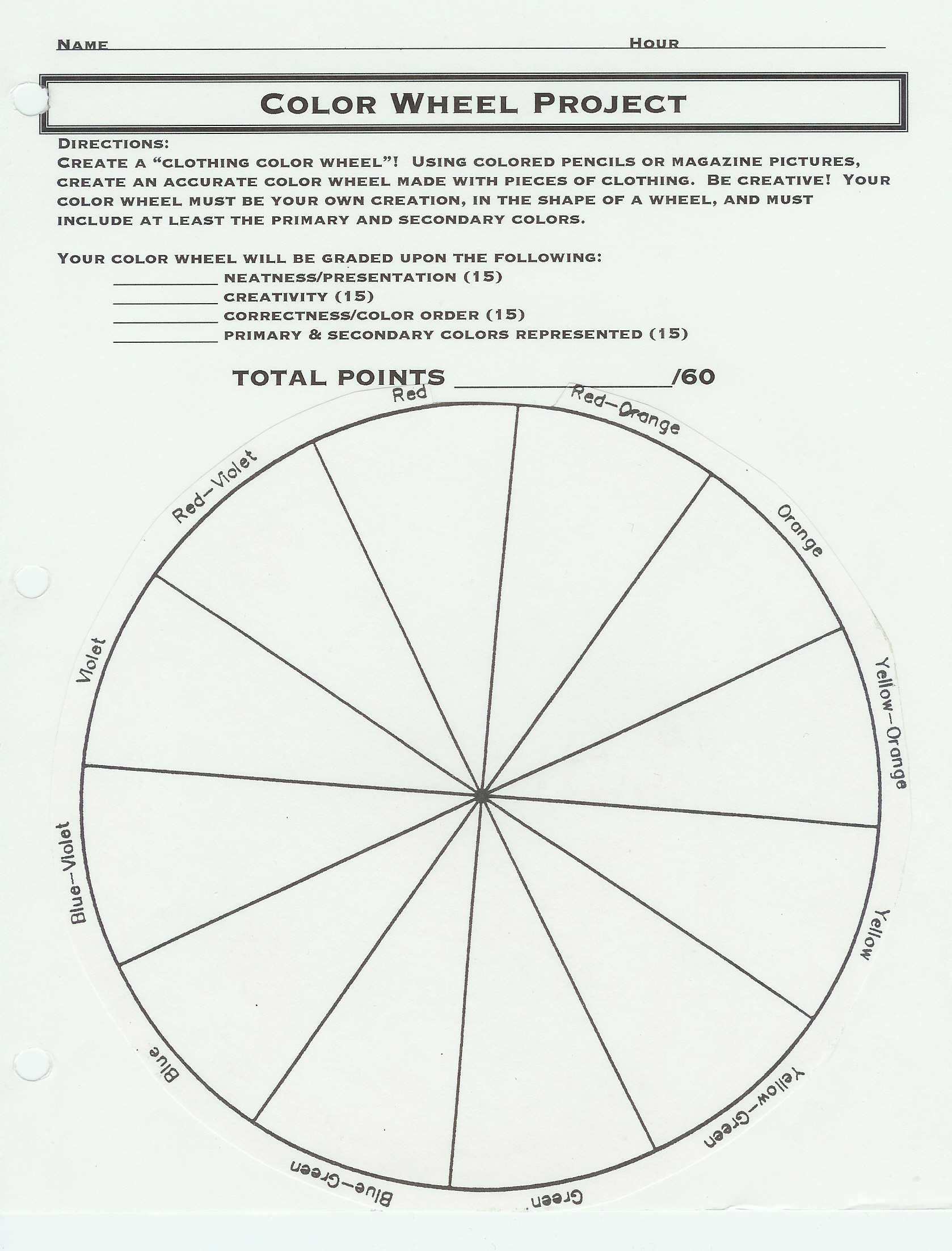 Color Wheel Chart For Clothing
