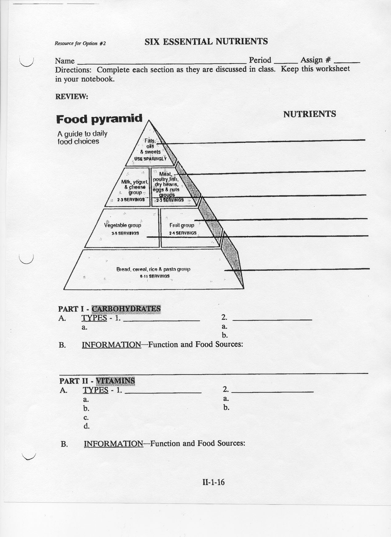 food pyramid worksheet pdf food. Black Bedroom Furniture Sets. Home Design Ideas