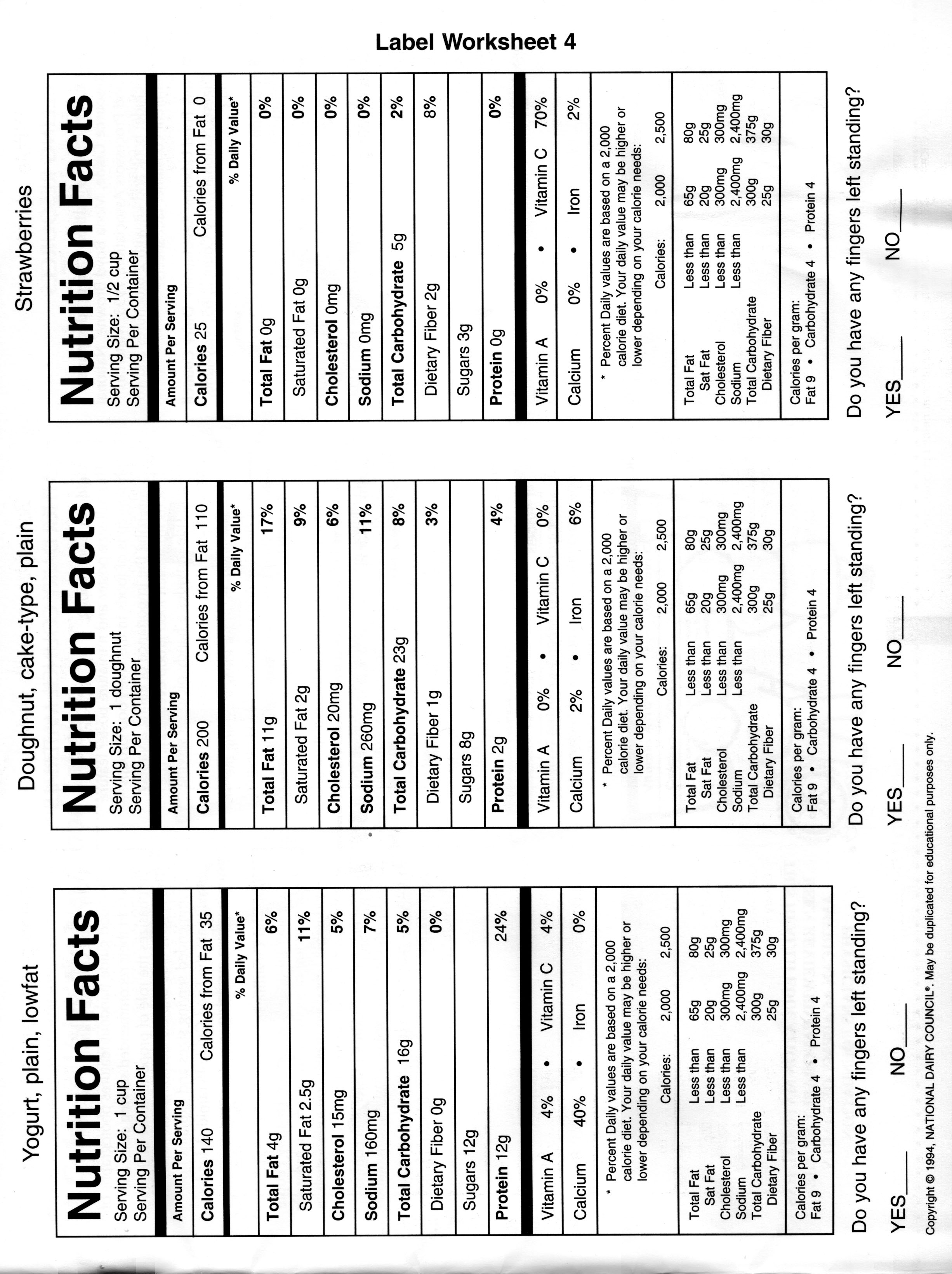 Worksheets Nutrition Label Worksheet food label worksheet targer golden dragon co worksheet