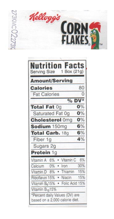 cgi file 233-2-776-cornflakes label jpg amp filename cornflakes label jpgCorn Flakes Nutrition Facts Label